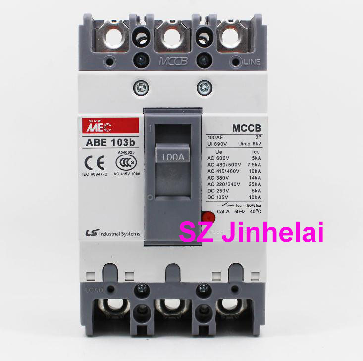 цена на ABE103b Authentic original ABE 103b LS Molded case circuit breaker ABE-103B Air switch 3P 40A/50A/60A/75A/100A