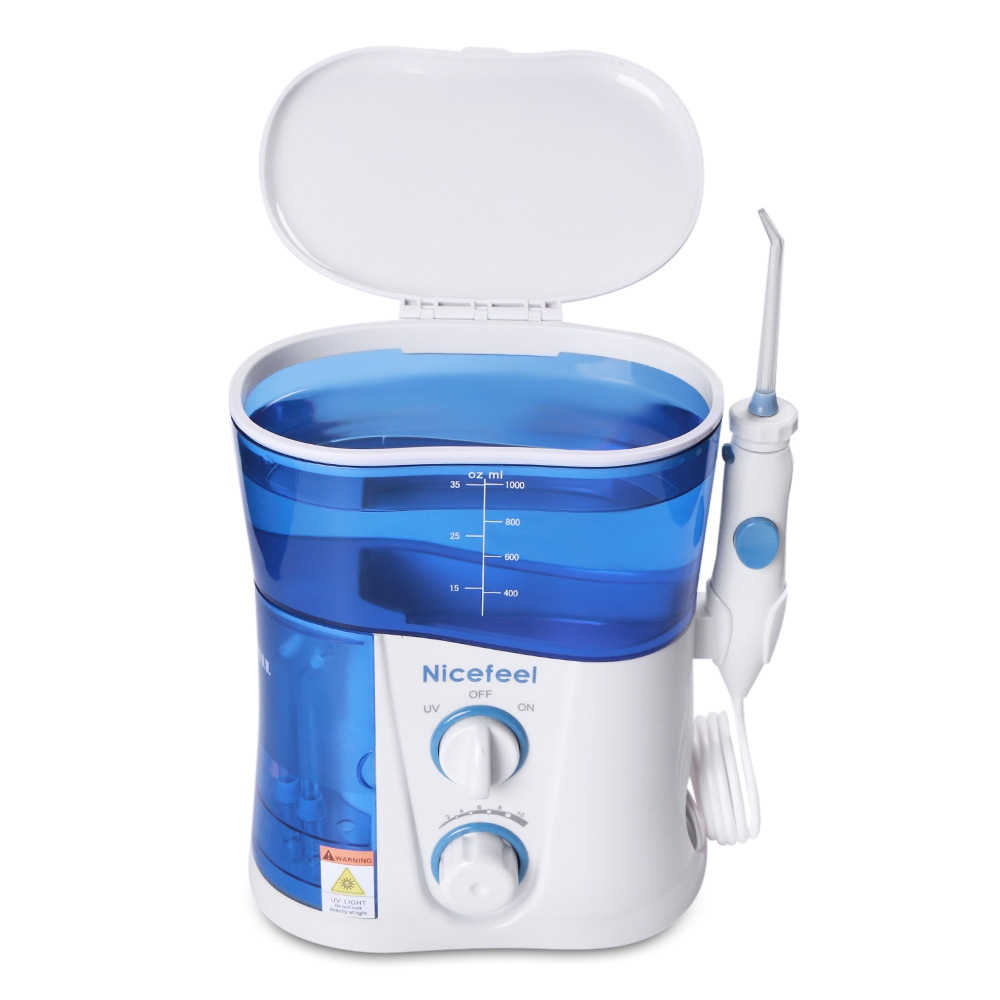 Family Pack Dental Water Flosser Nicefeel EU PLUG Oral Irrigator Portable Air Dental Flosser Power Water Jet Toothbrush Care 2017 teeth whitening oral irrigator electric teeth cleaning machine irrigador dental water flosser professional teeth care tools