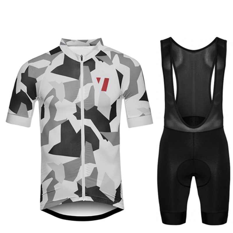 b80417ee2 2018 RCC Raphp Men s summer short sleeve cycling jersey Black and white  camouflage Breathable tops Custom