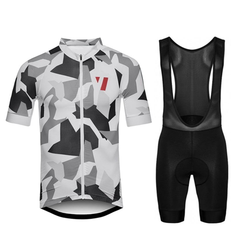 45a8f3380 2018 RCC Raphp Men s summer short sleeve cycling jersey Black and white  camouflage Breathable tops Custom team cycling clothing