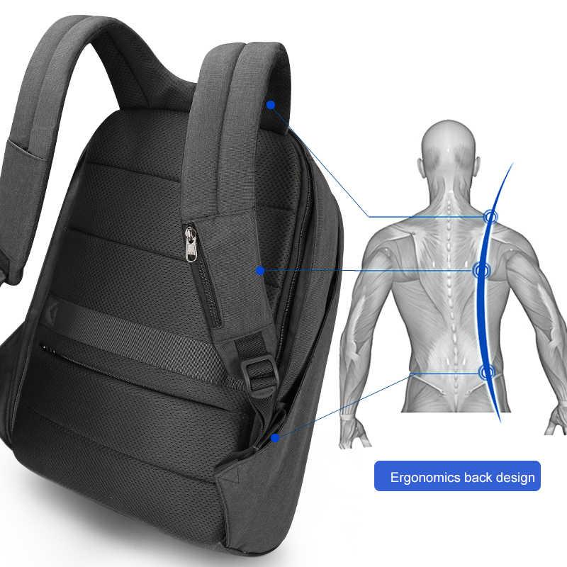 """Tigernu yeni moda 15.6 """"dizüstü Anti hırsızlık tasarım erkekler sırt çantası USB şarj yüksek kalite su geçirmez rahat okul sırt çantası erkek"""