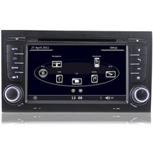 7 inch Capacitive Touchscreen HD 1080P Car DVD GPS Player For Audi A4 (2002-2007) SEAT EXEO (09-12) Can Bus 3G WiFi RDS USB