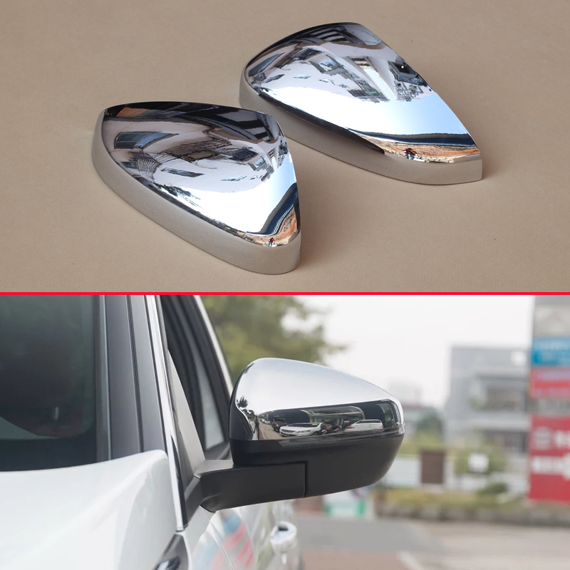 Chrome Car Styling Side Mirrors Glossy Pairs Cover Accessories For Peugeot 3008 5008 2017 2018 Rearview Rear View Overlay chrome car styling side mirrors glossy pairs cover accessories for peugeot 3008 5008 2017 2018 rearview rear view overlay