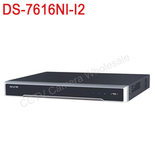 Free shipping DS-7616NI-I2 English version 4k NVR 16ch with 2 SATA ports, 12MP embedded NVR