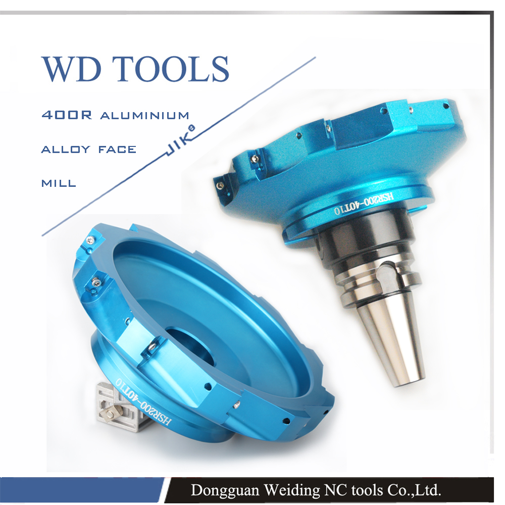 JIK 400R Right Angle Milling Cutter Alloy  Face Mill  Cutter With Ultra Light Body 400r-160-40-8t Or 400r-200-40-10T