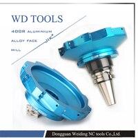 JIK 400R right angle milling cutter plate aluminum alloy face mill cutter 160mm ultra light body 400r 160 40 8t