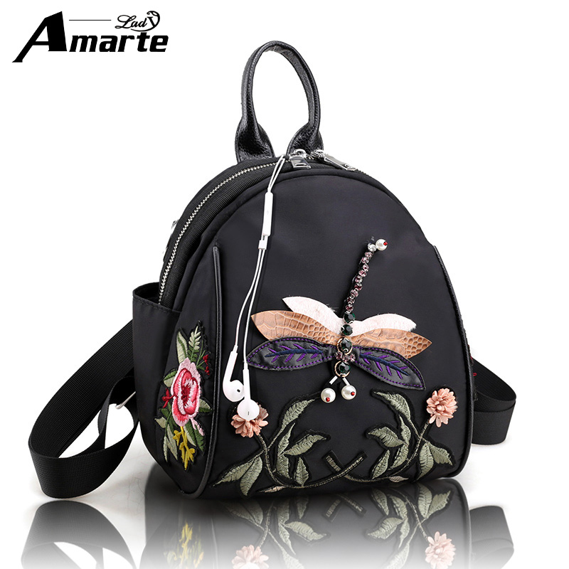 Fashion Leisure Women Backpacks Womens Floral Nylon Backpacks Female school Shoulder bags for teenage girls Travel Back pack