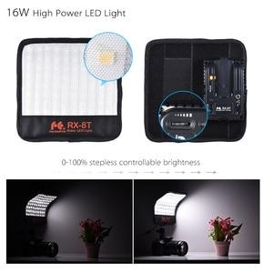 Image 5 - FalconEyes RX 8T 16 W Mini LED lampa wideo 5600 K CRI94 elastyczne tkaniny i staje W sytuacji sam na sam kamery lampa światła dziennego Splash proof dla Studio fotografii