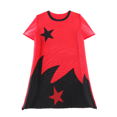 Impression T Courtes O cou Gratuite Lâche À Miyake shirt Chaude Livraison De Manches Plis rouge Noir Long Paillettes Vente kaki wz81q