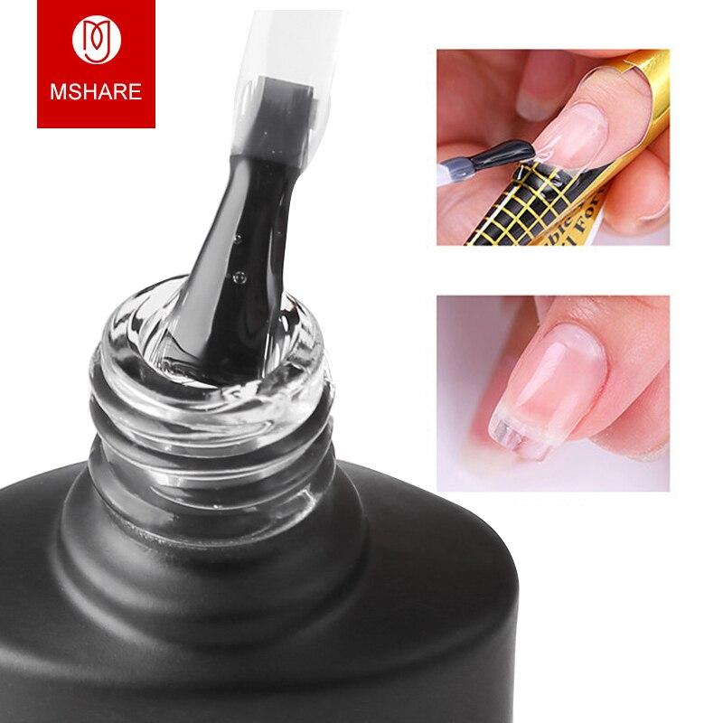 MSHARE UV гель лак гель для наращивания ногтей гель прозрачный лак быстро здании ногтей гель быстро советы пальца расширение клей форма ногтей