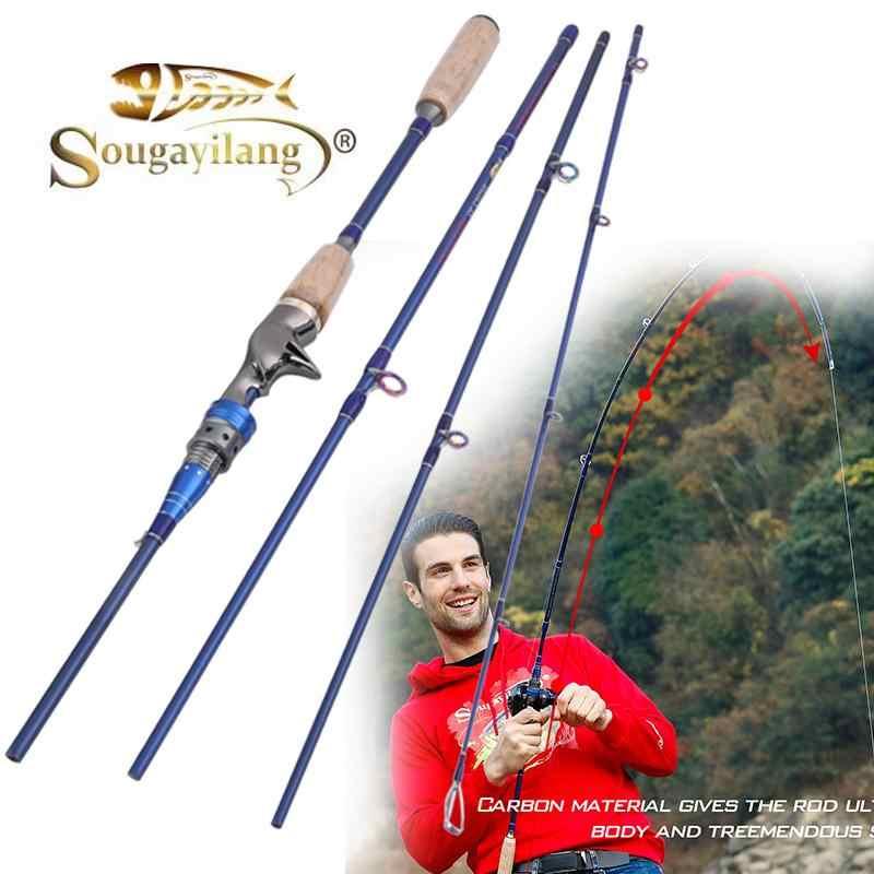 Sougayilang 2.1 メートル 2.4 メートルスピニングキャスティング釣竿炭素繊維超軽量ポータブル旅行釣りポール淡水釣り