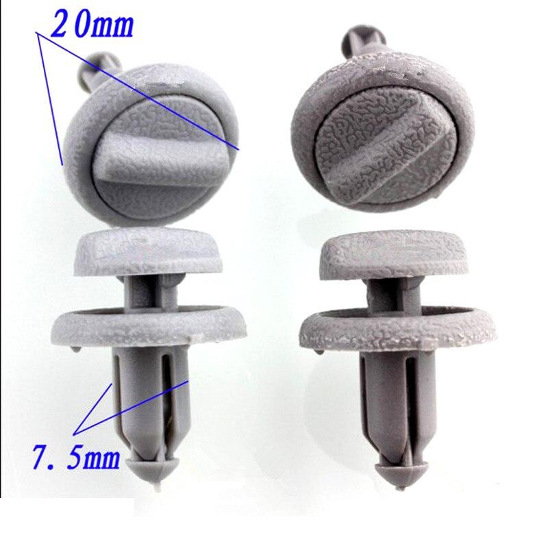 15PCS For Nissan Sunny Bluebird Livina Tiida plastic fasteners Trunk decorative board skirt lining clip
