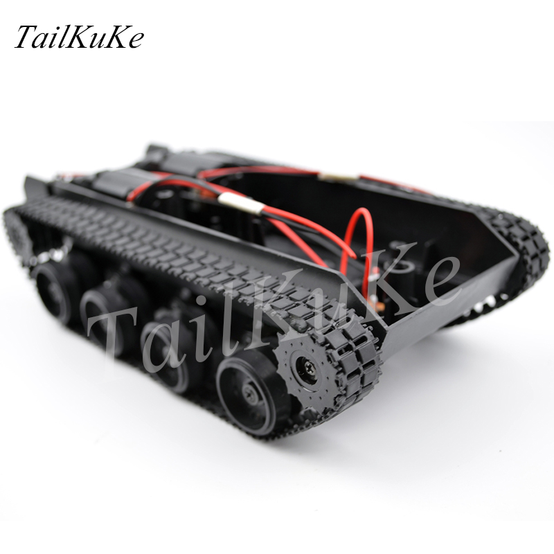Light shock absorption tank chassis tracked vehicle suspension intelligent video WiFi car chassis robot