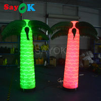 free shipping 2m/6.5ft inflatable Palm tree Giant Inflatable led light Coconut tree Sandbeach Party Decorations Supplies