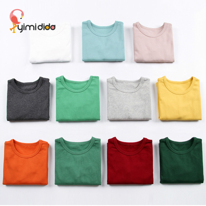 Baby Boys Girls Long Sleeve Tshirt Quality Cotton Solid Color Shirt Autumn Toddler Girl Clothing 2018 Brand Clothes Kids Tops 2y цены
