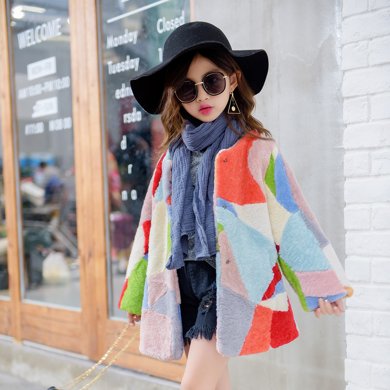 Winter Coat Kids warm outerwear for 6 14 yrs Children Clothes O neck street style fashion