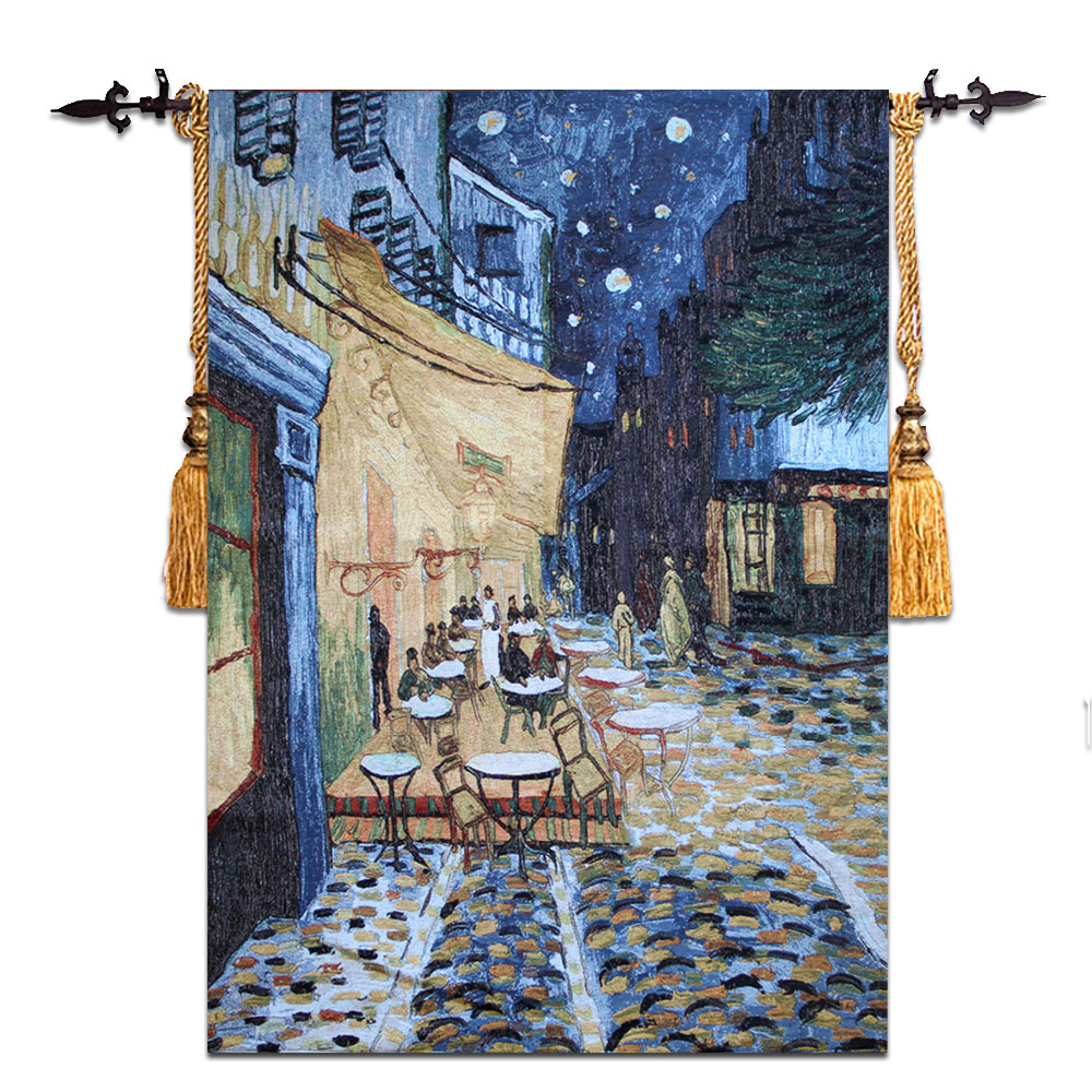 Vincent Van Gogh [Night Coffee Shop] Wall Tapestry Wall