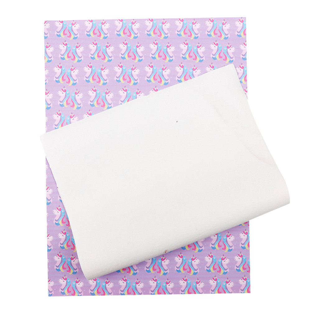 20*34cm Flamingo PU Synthetic Leather Fabric Sheets DIY Handmade Craft Hair Bows