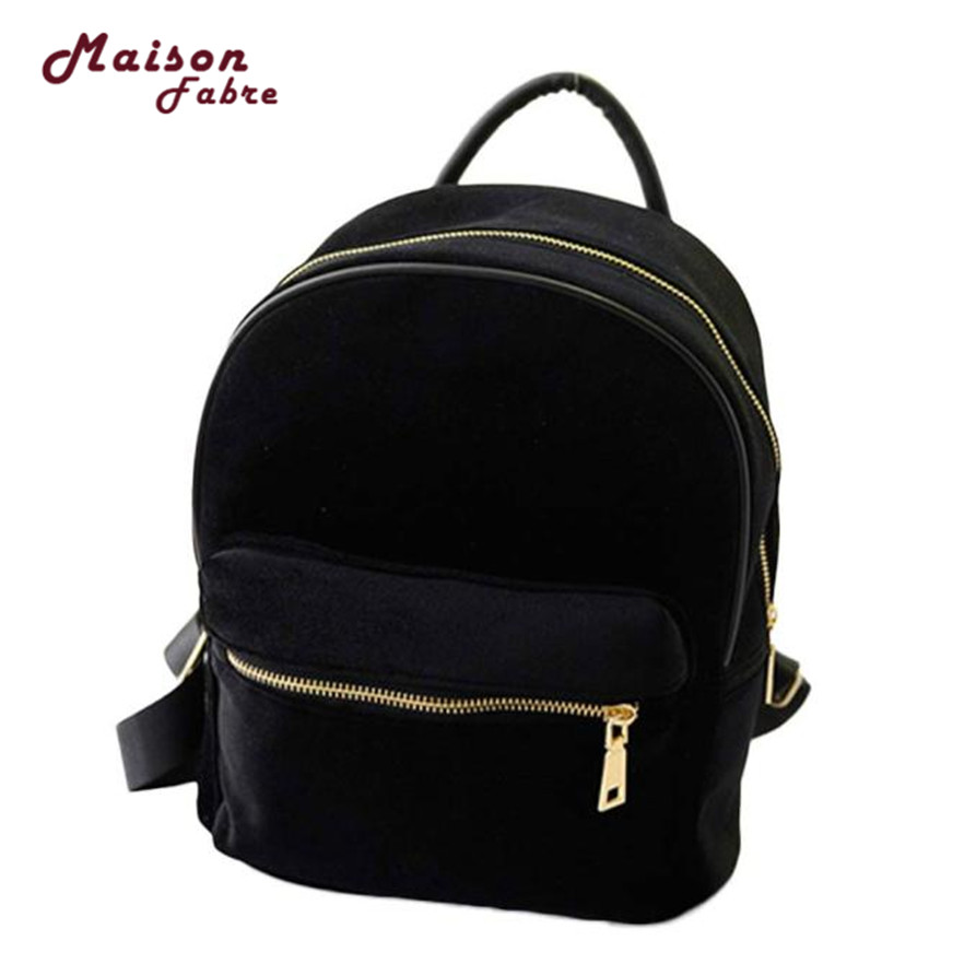 Usdh Fashion Traveling Women Gold Velvet Small Rucksack Backpack School Book Shoulder Bag Dropshipping Csv F6