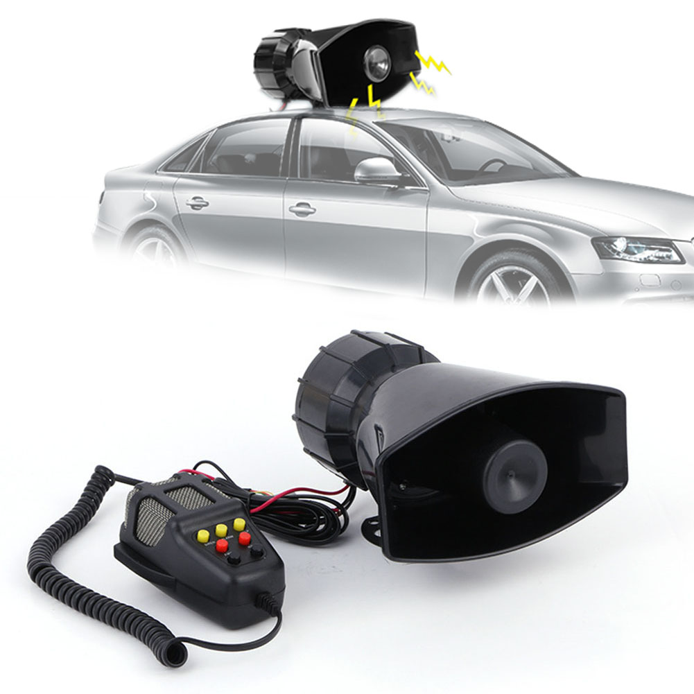 120dB 7 Sound Loud Car Warning Security Alarm Motorcycles Police Fire Car Ambulance Broadcasting Siren Air Horn Ceiling Speaker
