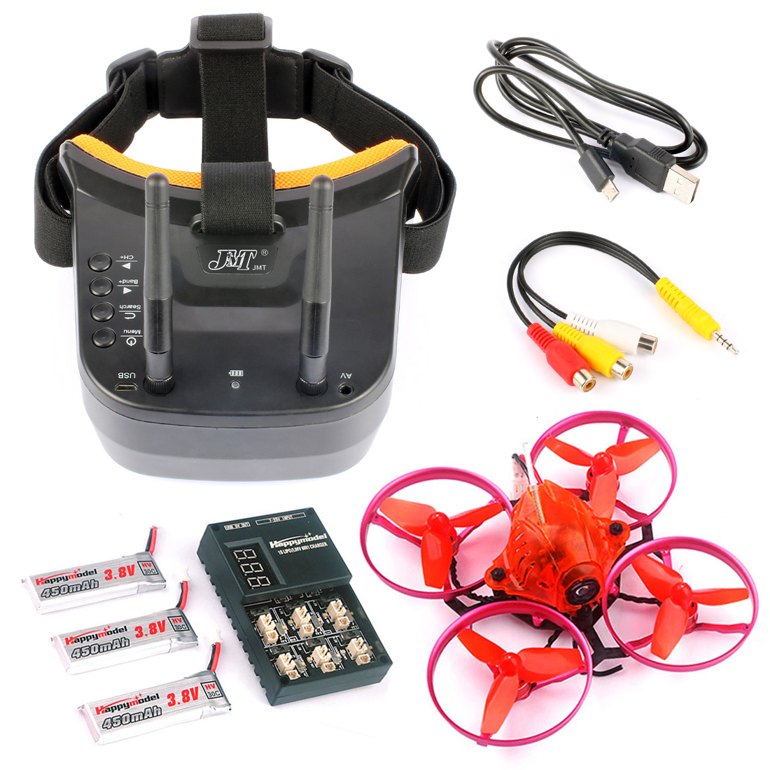 Snapper7 Brushless Whoop Racer Drone BNF Tiny 75mm FPV 700TVL HD Camera VTX & Double Antenna 5.8G Video Goggles for Frsky RX радиоуправляемый квадрокоптер betafpv beta65s whoop quad frsky rx bnf