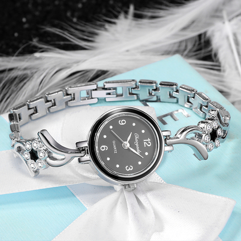 New Fashion Rhinestone Watches Women Luxury Brand Stainless Steel Bracelet watches Ladies Quartz Dress Watches reloj mujer Clock Lahore