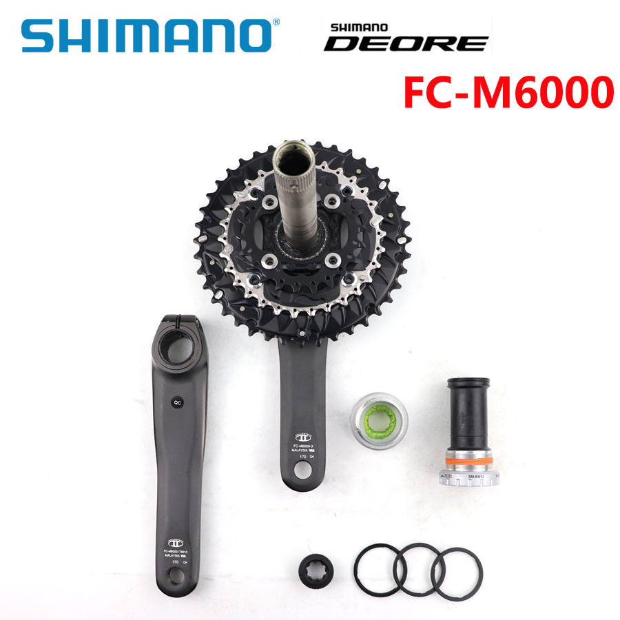 Image 2 - Shimano DEORE FC M6000 2x10 3x10 Speed Bike mtb Crankset With BB52 Bottom Bracket 40 30 22T 26 36T 28 38T 170mm Bicycle Parts-in Bicycle Crank & Chainwheel from Sports & Entertainment