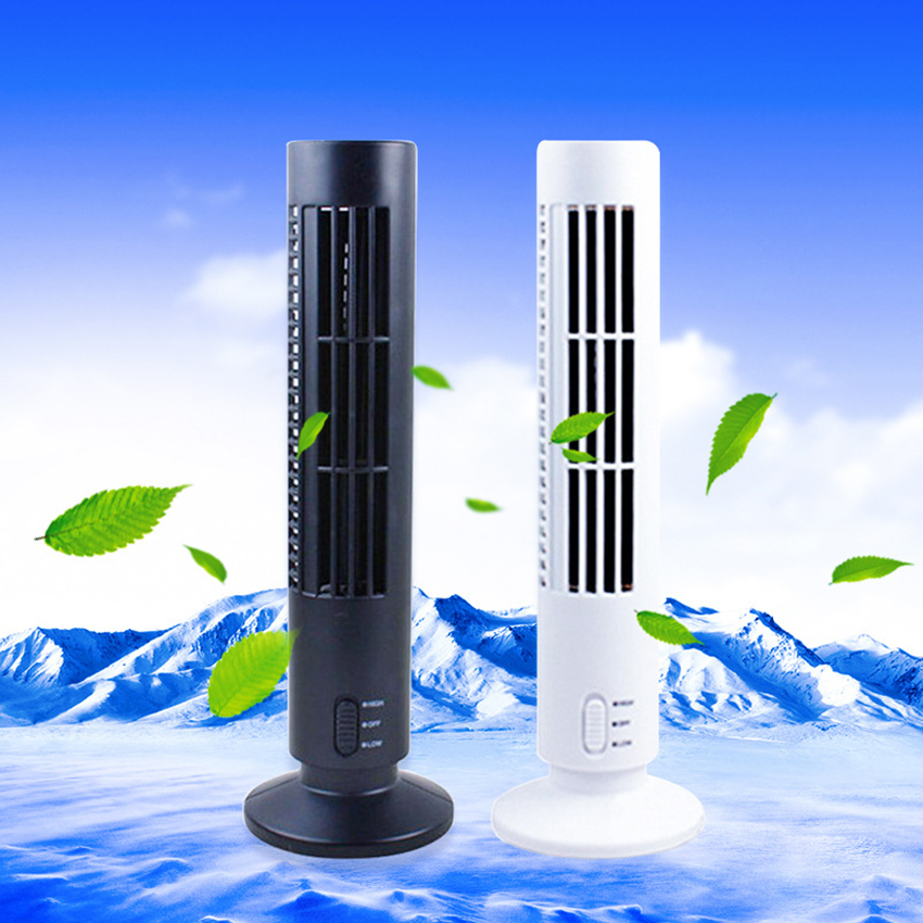 цена на Electric energy-saving Air Cooler Fans Portable USB Bladeless Fans Air Conditioner Cooling Desk Tower Fan for Home Office