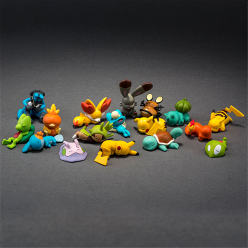 Image 5 - TAKARA TOMY POKEMON Sleeping Series Pika Squirtle Charmander Bulbasaur Action Figure Toys Collections Gifts Toys for Children-in Action & Toy Figures from Toys & Hobbies