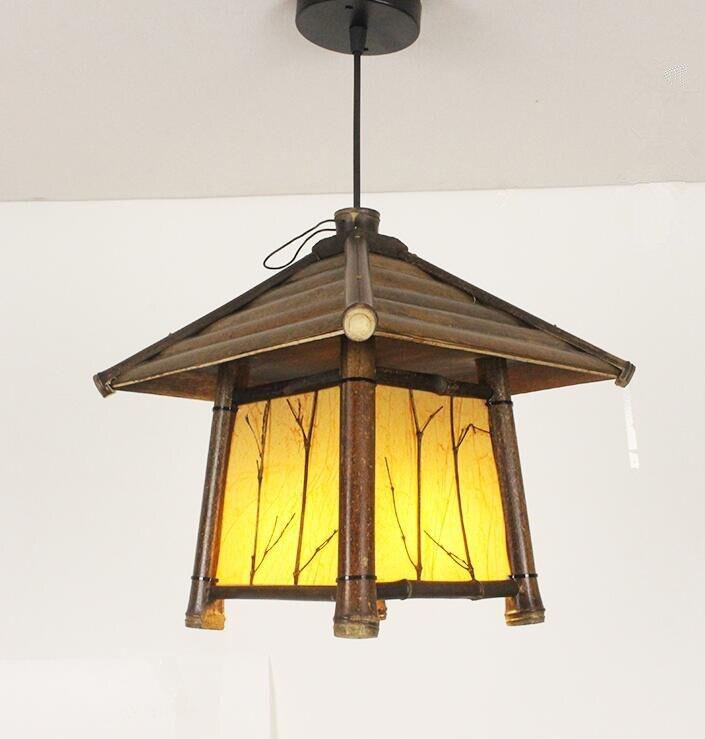 Japanski moderni privjesak od bambusa Svjetlo Washitsu Tatami Decor - Unutarnja rasvjeta - Foto 3
