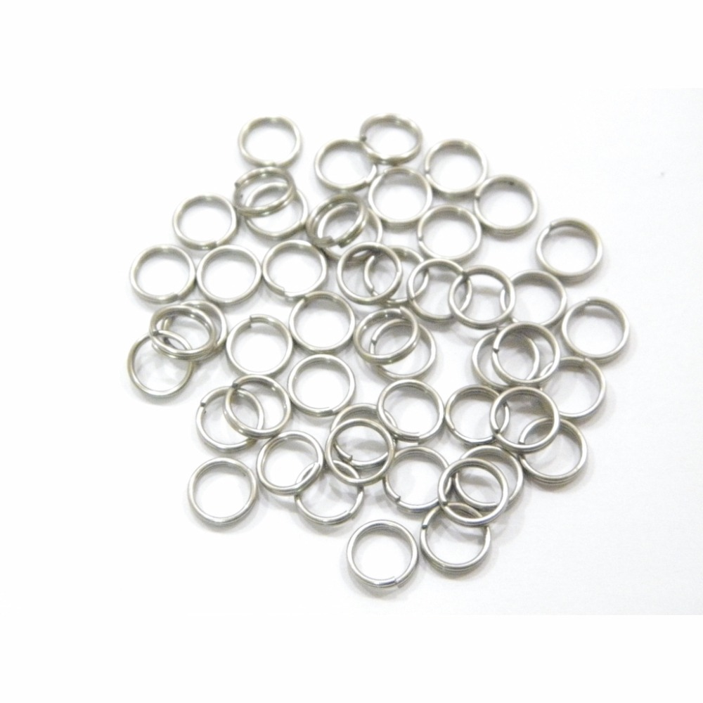 6mm 7mm 8mm 50 pcs Nickel Plated Split Rings for <font><b>Blank</b></font> <font><b>Lures</b></font> Crankbait Hard Bait 50 For Each Pack Bass Walleye Fishing UPR image