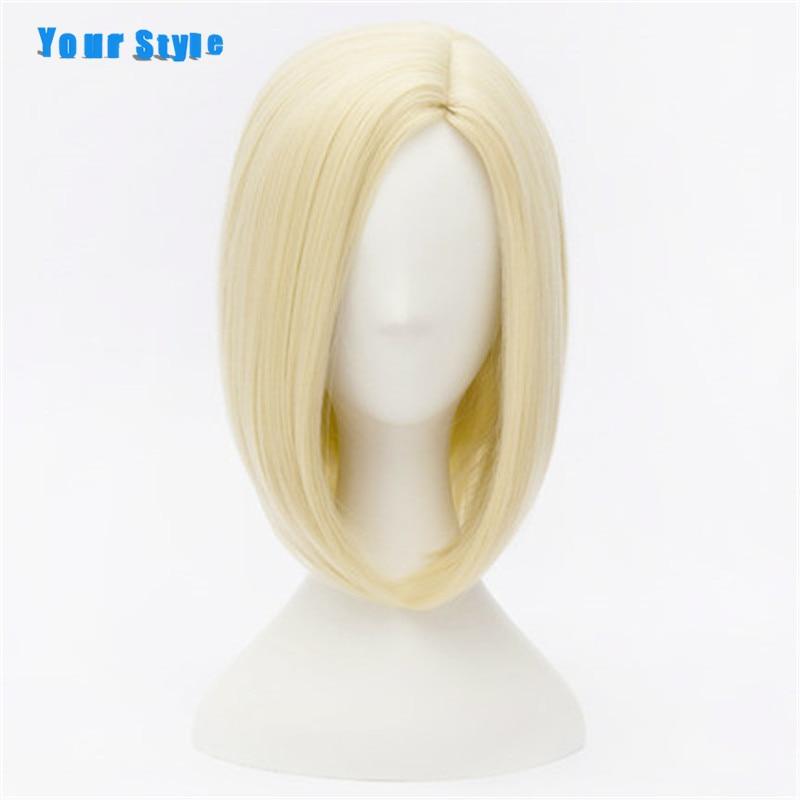 Ваш Стиль короткие прямые светлые Боб Стиль волос Искусственные парики Косплэй вечерние с косами желтый Синтетический Высокая Температура... ...