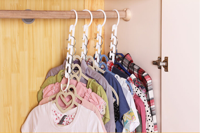 Merveilleux 3D Space Saving Hanger Magic Clothes Hanger With Hook Closet Organizer