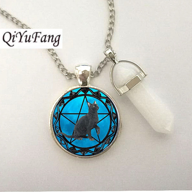 glass necklace colour chatterbox pendant picture water city blue