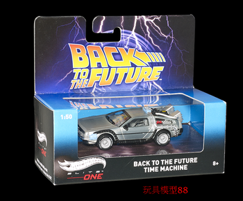 1:50 Delorean Back To The Future Car DMC-12 Scale Diecast Model Cars Miniatures  For Children Gift sand master kyosho