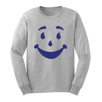 Loo Show Mens Smiley Funny Face Long Sleeve T Shirts Casual Men Tee
