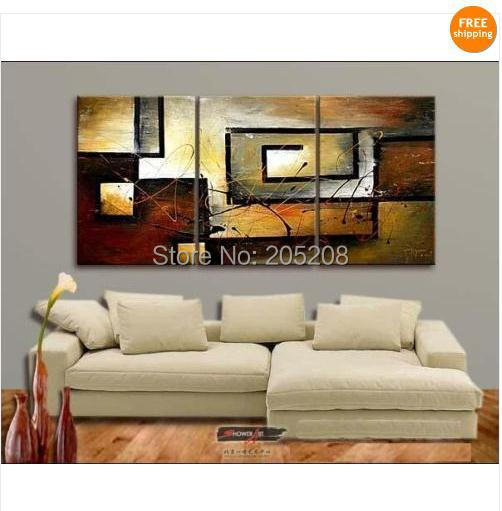 Framed 3 Panel Canvas Art Large Abstract Oil Painting Wall Pictures for Living Room Home Decoration XD00045