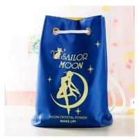 Japan Cartoon Cute Sailor Moon Cosmetic Bag Plush Drawstring Pocket Sailor Moon Lovely Luna Cat 43*20*32CM