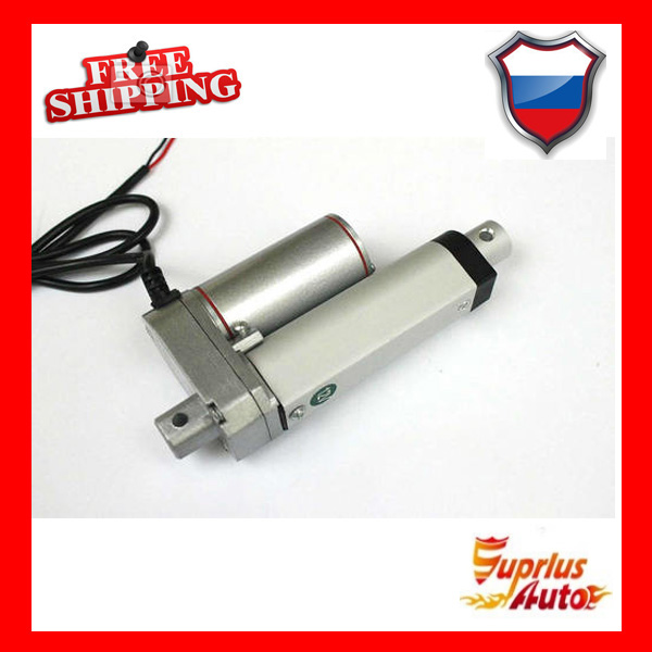 цена на Free Shipping 10mm stroke 12v mini linear actuator with max load 1000N/ 100KGS/ 225LBS electric linear actuators