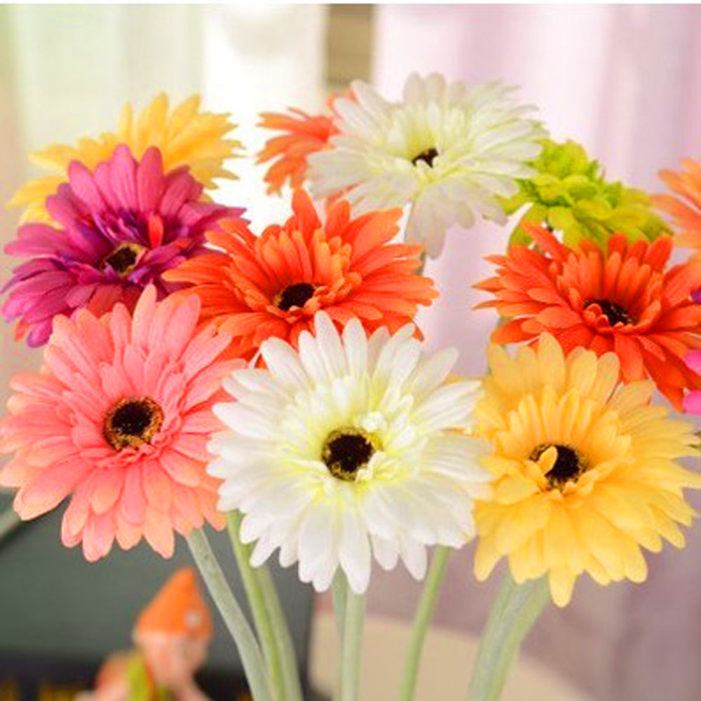 big size artificial gerbera daisy silk flowers for diy scrapbooking