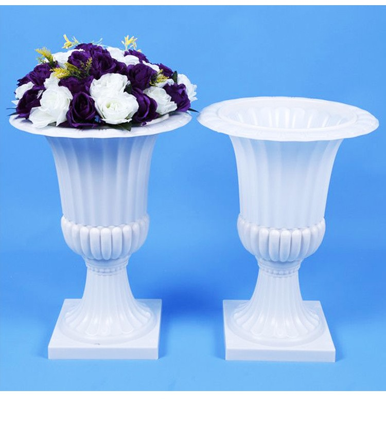 Colonnes romaines blanches de Style haut de gamme piliers en plastique route cité accessoires de mariage décorations de fond de mariage fournitures 2 pcs/lot - 6