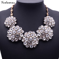 2015 New Fashion XG116 High Quality Ultra Luxury Necklaces Pendants Pure White Crystal Statement Necklace Crystal