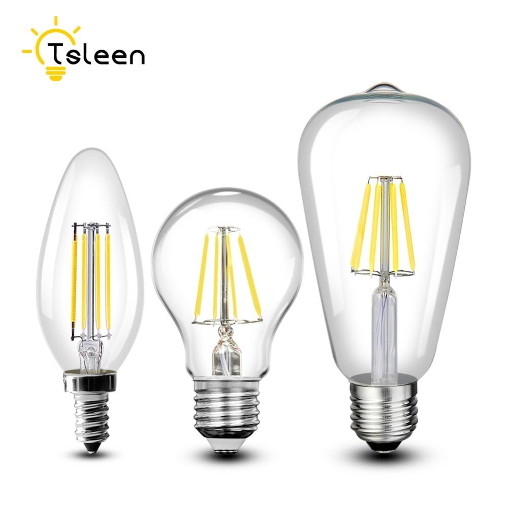 Cheap Vintage LED Edison Light Bulb E27 110V 220V Retro 8W 16W Carbon Filament Bulbs Edison Pendant Light For Home Decoration