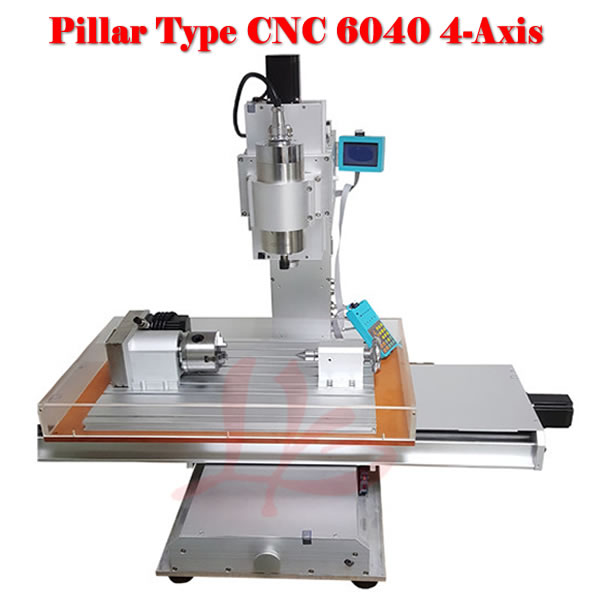 Russia free tax CNC router lathe machine 6040 4axis 2.2KW wood cutting machine with water cooling spindle no tax to russia cnc 5 axis t chuck type include a aixs