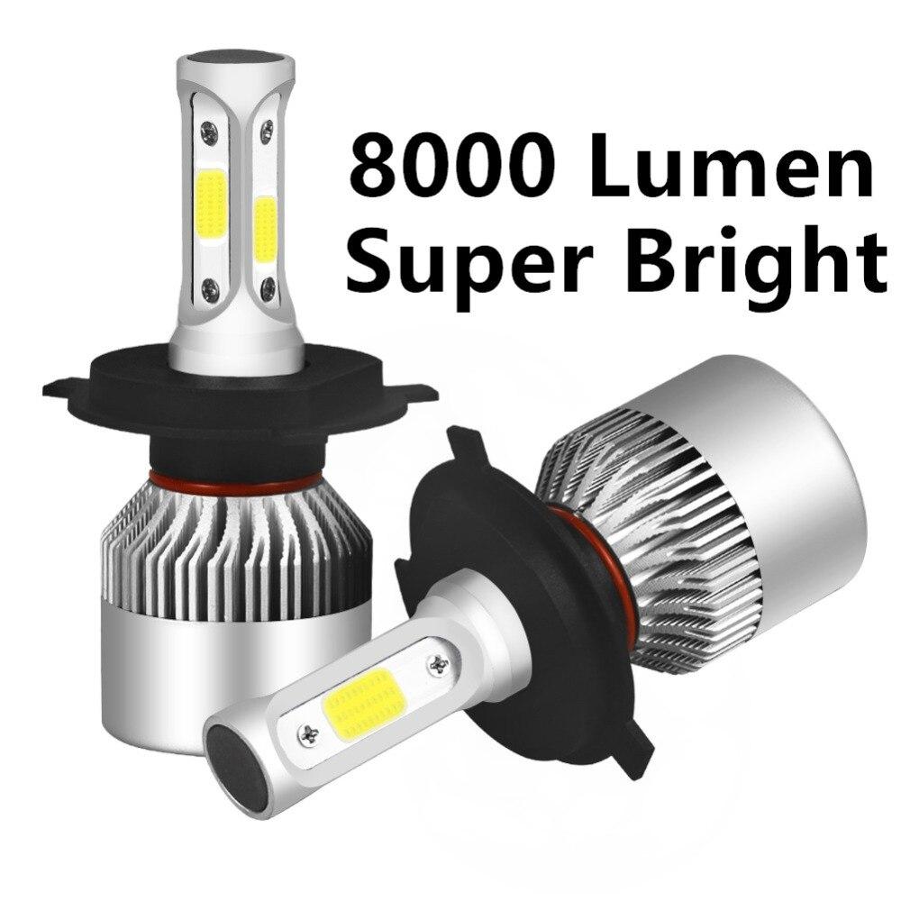 Voiture led Phare H7 H4 H1 H11 LED 9005 9006 9004 9007 880 HB3 H3 8000LM 6000 k Auto LED projecteur DC12V Place de la voiture led ampoules