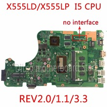 KEFU X555LD For ASUS X555LD R557L laptop motherboard rev2.0/1.1/3.1/3.3  i5 CPU motherboard 100% tested motherboard