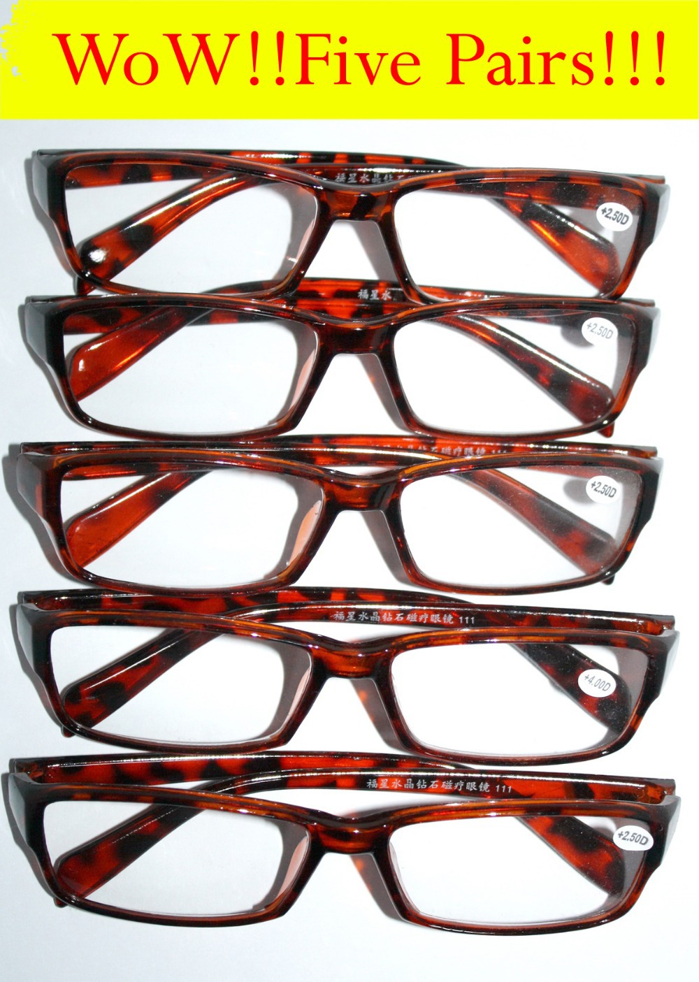 c95fd9bb1ca7  FIVE PAIRS (mix strength ok) WHOLESALE  RECTANGULAR classic JOBLOT  discount reading glasses +1 +1.5 +2 +2.5 +3 +3.5 +4 033