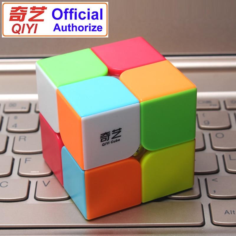 Cube 2*2*2 Classic Magic Toy PVC Sticker Block Puzzle Speed Cube Kids Toys Magic Cube Magic Cubes For Children K2825