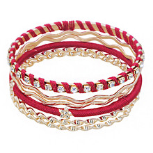aiboduo Fashion Women Bracelet Hand-knitted Elemental Wristband Bohemia Bangles New Year Gifts Accessories Jewelry 31B0007