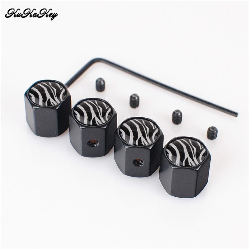 KUKAKEY 4PCS/SET Aniti-theft Moto Bicycle Car Wheel Tire Valve Caps For Kia Rio K2 Ceed  ...